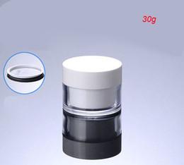 doppelwandiges kosmetikglas Rabatt NEW 30G doppelwandige creme Flasche kosmetische Behälter-Cremeglas kosmetisches Glas Kosmetikverpackungen