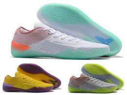 Zapatos nuevos de kobe online-NUEVO 2018 Kobe 360 AD NXT Amarillo Naranja Zapatos de baloncesto Derozan Strike Baratos AAA + calidad Zapatillas de deporte para hombre Lobo Gris Púrpura Zapatillas de deporte Tamaño 7-12