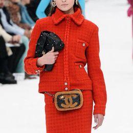 Casacos de grife on-line-Womens Streetwear Moda de Nova Chegada Womens Inverno Designer Two Piece vestido de luxo Define Jacket + Vestido Marca Mulheres Dois conjuntos de peças