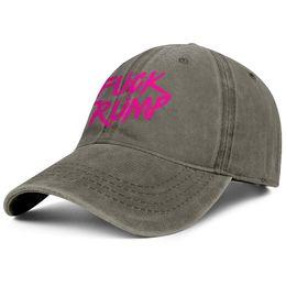 Fuck Trump 2020 rosa marrón para mujer Para hombre Sombrero del dril de algodón que friega los estilos del sombrero del snapback ajustado gorras del papá del papá desde fabricantes