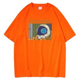 Homens tendência tendência verão t on-line-Algodão Manga homens camisetas Verão New Fashion Trend impressão Sólidos Redondo Cor pescoço curto T-shirt Asiático Tamanho S-3XL