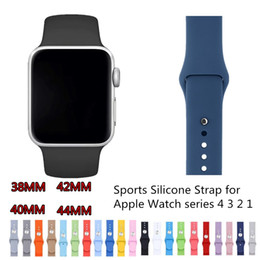 yellow smart watch Promo Codes - Fashion Classic Silicone Strap for Apple Watch Series 4 3 2 1 Soft Replacement Watchband for iWatch 38 42MM Strap 40 44MM Bracelet