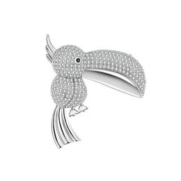 Gorriones regalos online-Regalo de Dibujos Animados Personalidad Broche de Cobre Lindo Boca Grande Gorrión Magpie Bird Cobre Circón Broche de Joyería de Moda de Alta Calidad