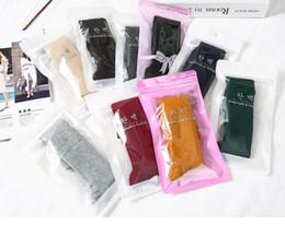 Otoño / invierno algodón delgado estilo fino calcetines de mujer color sólido vintage sen serie botín botín calcetín cubierta medias desde fabricantes
