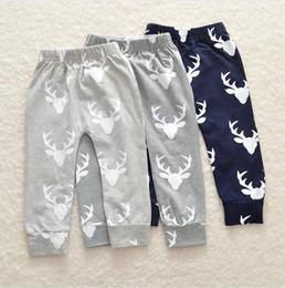 Ragazzi neonati autunno inverno pantaloni natalizi stampa cervo collant fondo leggings pantaloni harem pantaloni per 0-4 t 4 dimensioni da
