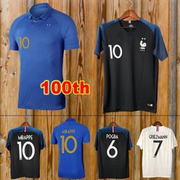 France maglia 2018 Maillot de foot equipe anniversario GRIEZMANN POGBA MBAPPE KANTE 2019 maglia da calcio GIROUD 100 anni da