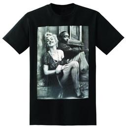 Canada Tupac Marilyn Monroe Couple T Shirts Hiphop Legend 2018 Nouveau T-shirt À Manches Courtes Pour Hommes 100% Coton Family Top Tee Offre