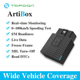 Obd conector bluetooth on-line-TOPDON ArtiBox OBD2 Ferramenta de Diagnóstico Conector OBD Software APP Livre Azul OBDII ELM327 Pro para Driver PK LAUNCH X431 EasyDiag 3.0