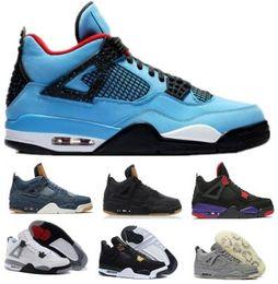 best website f9292 62458 Nike Air Jordan Retro 4 4s uomini scarpe da basket 4s puro denaro allevato  fuoco rosso bianco cemento Royalty tuono scarpe da ginnastica di alta  qualità ...