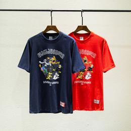 Camisas casuales de calidad para hombre online-2020 de lujo Europa Francia Alta Calidad Vetements Moda Hombres camiseta de dibujos animados diseñador T Shirts ropa de las mujeres algodón ocasional T Top