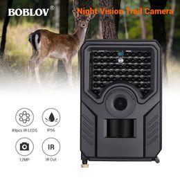 2019 12mp scouting camera BOBLOV PR200 12MP 49 PCS IR Leds Trail Caça Câmera FHD 1920 * 1080 P 25FPS À Prova D 'Água Câmera Scouting Trail PRETO 12mp scouting camera barato