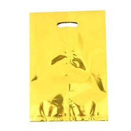 10 шт./лот металлическая фольга подарочные пакеты дети Ребенок день рождения ребенка конфеты десерт украшения бабло мешок свадебные принадлежности cheap loot bags от Поставщики мешки для добычи