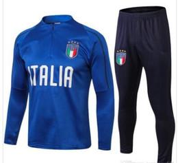 Тренировочные костюмы для бега трусцой онлайн-Спортивный костюм для футбола Италия бег трусцой ICARDI NAINGGOLAN HIGUAIN SUSO 2018-2019