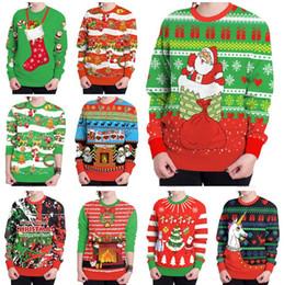 f7119583d508a 2019 vêtements de noel pour hommes Sweat-shirts de Noël Imprimés Femmes Hommes  Sweatshirts de