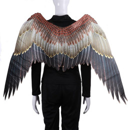 Alas de fiesta de adultos online-Partido de baile de disfraces del carnaval del carnaval de Big Eagle Wings traje de telas no tejidas animal adulto ala de Halloween Suministros MMA2299-2