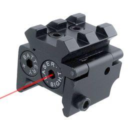 Argentina Tactical Mini Pistola compacta ajustable Punto rojo Vista láser con desmontable 20 mm Picatinny Rail Mount para la caza de rifle al aire libre supplier mount pistol laser Suministro