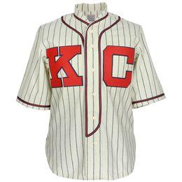 Настройка Джеки 5 Робинсон Бейсбол Джерси Мужские Канзас-Сити Монархи Куперстаун трикотажные изделия бейсбола колледжа Пользовательские Любой Размер Любое Число от