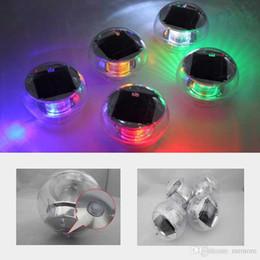 lampada postale alimentata a energia solare Sconti Impermeabile solare galleggiante LED lampade da biliardo luci RGB colori che cambiano LED Night Lamps home Garden decorazione del partito