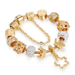 fascini da ginnastica Sconti I monili per Pandora Charms Snake cristallo Bracciale catena di cuore braccialetto rosa fortunati Bangles KC Bracciali d'oro per le donne con il sacchetto