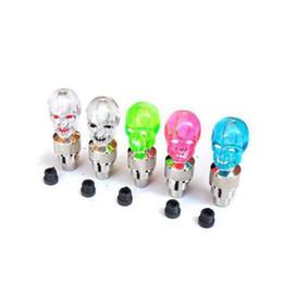 neon crani dei luci Sconti Luci della ruota della bici Skull Mix LED Flash Light Lampada al neon Night Bike Car Tire Valvola della gomma del pneumatico Caps Luci bici ZZA701 3000pcs