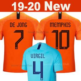 Canada Netherlands 2019 2020 Pays-Bas maillots de foot DE JONG MEMPHIS VIRGIL DE LIGT Holland kits chemise soccer jersey football shirt VAN DIJK STROOTMAN PROMES ROBBEN V.PERSIE qualité thaïlandaise supplier netherlands robben jersey Offre