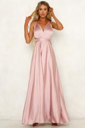 vestidos vermelho carmesim Desconto Mulheres Sexy Prom Maxi Vestidos 2019 Longo Partido Da Menina Vestidos Longos Aberto Voltar Arco Vestidos de Noite