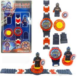 2019 pacchetto del giocattolo dei bambini Super eroe Orologi DC Marvel Avengers figura di azione giocattoli del fumetto Building Block orologio per bambini giocattoli regalo di Natale con la scatola Pacchetto 65 X2221 sconti pacchetto del giocattolo dei bambini