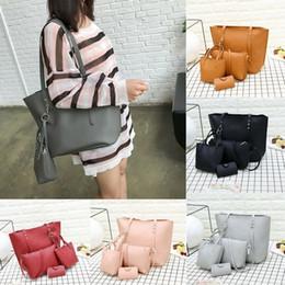 китайские сумки Скидка Сделано в Китае 4шт Женщины моды кожа сумки Сумка Tote Кошелек Коммуникатор Satchel Set