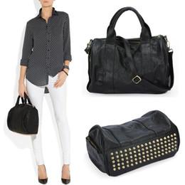 famous Brand Luxury Handbags Women Bags Designer Rivet Boston Bag High  Quality Big Punk Ladies Hand Bag Stud Travel Shopper Tote 5bfd3654b4ef7
