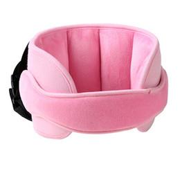Almohadas de cuello para dormir online-Cabeza del asiento de seguridad para niños soporta la cabeza del bebé almohada para dormir fija Protección para el cuello del niño Parque infantil de seguridad Reposacabezas Soporte ajustable Almohadilla
