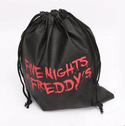Argentina FNAF Drawstring Bag FNAF Bolsa de almacenamiento Cinco noches en Freddy's Bags Cinco noches en Freddy's Party Bolsas de regalo Freddy Carry Bag para niños Juguetes Suministro