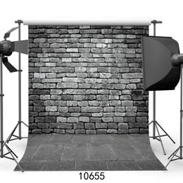 2019 novo fundo da foto da parede Parede de Tijolo preto Pedra Piso Vinil Fotografia Fotografia Para O Chuveiro de Bebê New Born Crianças Adulto Photo Shoot Booth Studio novo fundo da foto da parede barato
