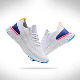 2019 zapatos casuales más populares Nike Epic React Flyknit 5.0 Más populares 2018 Clásico zapatos de escalada Zapatos de cuero básicos Casual Hombres Mujeres Negro Blanco Rojo Dorado Zapatillas Tamaño 36-45 zapatos casuales más populares baratos