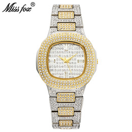 Relojes fox online-Miss Fox Bussiness reloj de cuarzo Famous Brand Bu Diamond Watch Reloj de acero inoxidable Reloj de mujer de oro Reloj de diseñador para mujer Y19062402