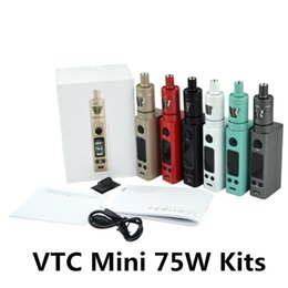 Vtc mini kit online-VTC Mini 75W-Kits TC-Temperaturregelung Tron Atomzier Firmware Upgradeable Seitenansicht VS Pico Topbox Elektronik Zigaretten-Kits DHL