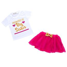 Юбка из сетки онлайн-Короткая юбка twopiece полиэстер Письмо печати с коротким рукавом западный стиль принцесса лук сетки красная футболка 1-6 Т 50