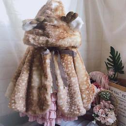 2019 großhandel jungen capes 2019 neue Baby-Weihnachten Liebe mit Kapuze Mantel-Kap-warme Mäntel Jungen Mädchen Winter-Oberbekleidung-Kind-Kleidung Großhandel günstig großhandel jungen capes