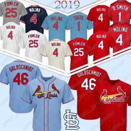 camisa molina Desconto ST. LOUIS Baseball Jerseys CARDEAIS Paul 46 Goldschmidt Yadier 4 Molina Dexter 25 Fowler Jersey 2019 novo top