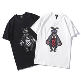 Canada 19SS mens designer hommes t-shirts mode Bee image tricot imprimé t-shirts mens lettre été t-shirt coton manches courtes cheap new print shirt image Offre