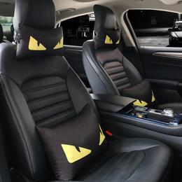 apliques de peônia Desconto 2019 FF carro travesseiro encosto de cabeça maré personalidade da marca interior criativo suprimentos designer de carro travesseiros internos pescoço cabeça travesseiro acessório da moda