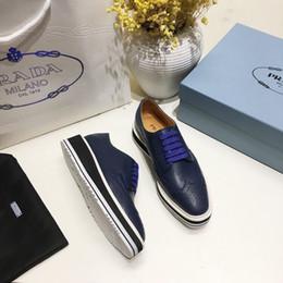 torta di scarpe blu Sconti Ting2594 31715 Sponge Cake Platform Shoes - Blue Sneakers Dress Shoes Skate Dance Ballerina Flats Mocassini Espadrillas Zeppe