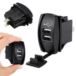 Argentina 3.1A 12-24 V LED Universal Cargador de Coche Impermeable Puerto Dual USB Cargador Toma de corriente para motocicleta Coche Auto Accesorios Camping Suministro