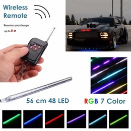 2020 scanner wireless Kit 7-Color RGB LED Knight Rider Scanner barra chiara Scanner Strip con telecomando wireless scanner wireless economici