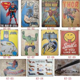 Figuras de desenhos animados vintage on-line-Sinais de lata dos desenhos animados para a coleção de decoração figuras dos desenhos animados cartazes de parede pintura de parede do vintage desvaneceu-se sinais de estanho de metal à moda