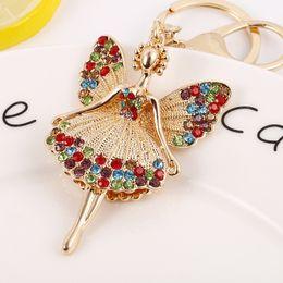 Argentina 40PCS Enlaces clave de venta directa del fabricante Corona Perla Llavero Colgante Diamante de color mariposa Hada Aleación Enlaces clave cheap keychain crown Suministro