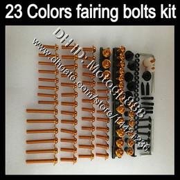 Yamaha yzf body kit online-OEM de cuerpo completo kit de tornillos para YAMAHA YZFR1 10 11 12 YZF R1 YZF 1000 YZF1000 YZFR1 2010 2011 2012 GP82 carenado tuercas tornillos juego de pernos Tuerca
