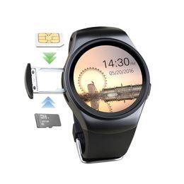 android montre intelligente nfc Promotion Smartch KW18 Moniteur de fréquence cardiaque NFC Smartwatch Montre intelligente pour Apple Samsung Android Podomètre santé complet rond MTK2502 PK DZ09