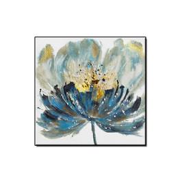 Obras de arte Hermosas flores pintura al óleo abstracta imágenes de arte de la pared decoración para el hogar Paisaje pintado a mano sobre lienzo para sala de estar sin marco desde fabricantes
