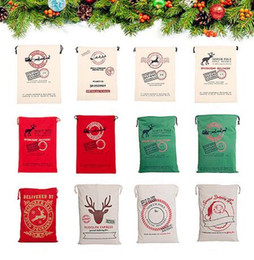 cartoons for decoration Coupons - 24 Styles Christmas Gift Bags Large Organic Heavy Canvas Bag Santa Sack Drawstring Bag With Reindeers Santa Claus Sack Bags for Kids 668