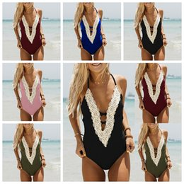 ec1963e915ef7 One-pieces Women Print Bandage Swimwear Bathing Suit Sexy Swim Summer Beach  Wear Print Monokini 5 Colors Swimsuit IIA225